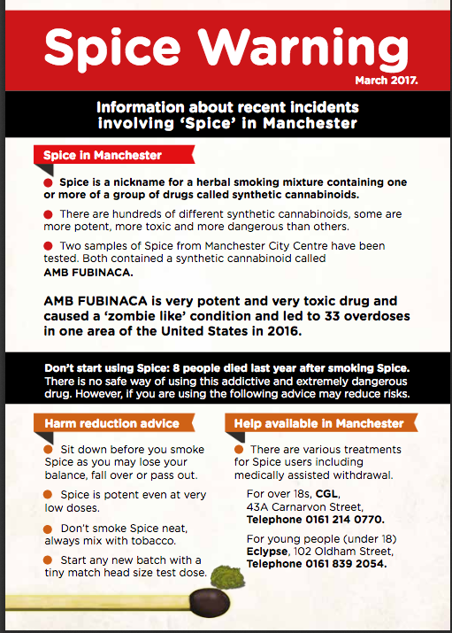 Spice Warning Leaflet
